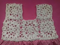 Crochet yoke for girl - Crochet Crochet Yoke, Crochet Fabric, Crochet Stitches, Crochet Patterns, Crochet Summer Dresses, Crochet Summer Tops, Crochet Girls, Diy Summer Clothes, Diy Clothes