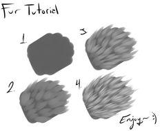 Digital Painting Tutorials, Digital Art Tutorial, Art Tutorials, Painting Fur, Painting Tips, Painting & Drawing, Drawing Techniques, Drawing Tips, Animal Drawings