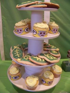Green Bay Packers Dessert Tower I would do this for any Super Bowl party