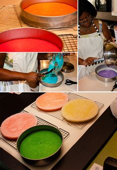 how to make rainbow layered cake