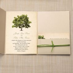 cheap rustic tree pocket wedding invitations EWPI179 as low as $1.69 Yellow Wedding Invitations, Matching Cards, Reception Card, Wishing Well, Response Cards, Rsvp, Place Card Holders, Rustic