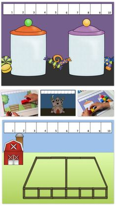 Unifix Cubes Print & Play Addition to 10 Story Mats « Great for Part Part Whole math activities >> United Teaching