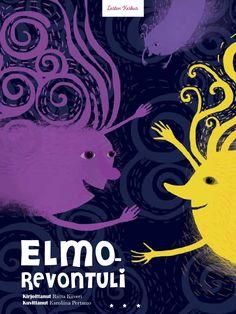 """Riitta Kiiverin lennokas satu kertoo revontulipoika Elmosta, jonka sukulaiset järjestävät huikean karnevaalin korkealla Kilpisjärven yllä. Satu on julkaistu kirjassa """"Lennokas – satuja, jotka saivat siivet"""" (Lasten Keskus 2015) ja sen värikylläinen kuvitus on Karoliina Pertamon käsialaa. Elmo, Grimm, Fairy Tales, Literature, Movies, Movie Posters, Kids, Gardening, Literatura"""