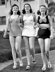 swimsuits and heels, Vintage Bathing Suits, Vintage Swim, Vintage Mode, Vintage Girls, Vintage Bikini, Vintage Glamour, 1940s Fashion, Vintage Fashion, Classic Style Women