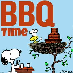 SNOOPY & WOODSTOCK~BBQ TIME