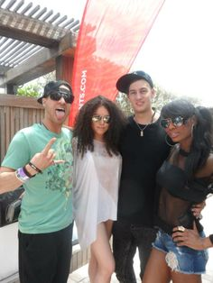 Killa Karma & Nuthin' Under A Million with Uberjakd backstage at the Mixmash Records pool party at National Hotel #WMC
