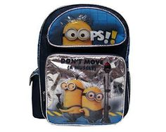 """New Despicable ME 2 Toddler 12"""" School Backpack book bag Minions OOPS Don't move #Universal #Backpack"""