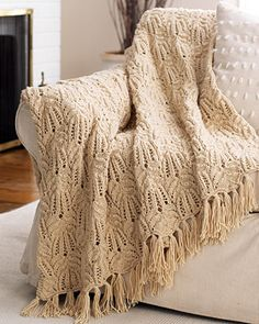 CHA - Lace Cable Afghan