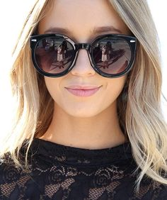 Black Round Sunglasses by Sabo Skirt sunglasses for women