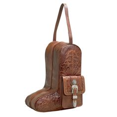 """(AW8565736) """"Retro Romance"""" Western Leather Boot Bag by American West"""