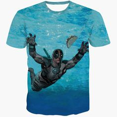 Funny Nirvana parody Dead pool Deadpool diving for Taco Tee T-Shirt All over Print