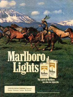 1985 Marlboro Lights   Digital Poster Collection