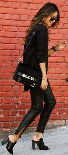 All Black Everything. by Sincerely Jules - feel like we could rock this look @Andrea / FICTILIS Harris