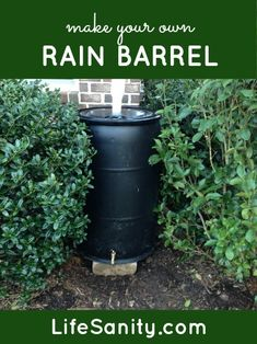 "How to Make Your Own Rain Barrel - Add 1"" washer ring between hose bib and outside of barrel, seal w/ silicone."