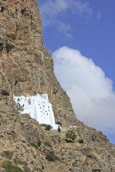 Hozoviotissa Monastery in Amorgos island, Greece...