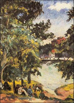Paisaje de verano (Летний пейзаж, 1925) Aristarkh Vasílievich Lentulov (Аристарх Васильевич Лентулов. Unión Soviética. Rusia, 1882-1943)