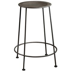 Iron Zinc-finish Counter Stool (India) - 13679372 - Overstock - Top Rated Bar Stools - Mobile