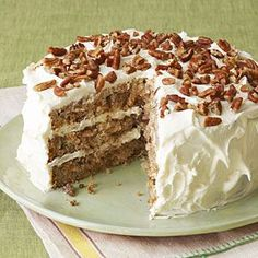 Hummingbird Cake - A sweet traditional Southern banana, pineapple, spice cake with cream cheese frosting