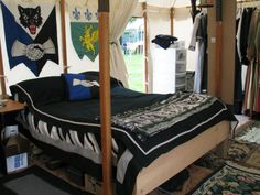 Encampment - heraldic bed hangings