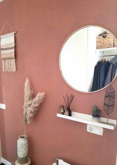 Terra cotta wall in the hall - Modern Hallway Wall Colors, Bedroom Wall Colors, Accent Wall Bedroom, Bathroom Colors, Bedroom Themes, Bedroom Decor, Velvet Room, Home Bedroom, Duvet