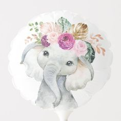 Shop Purple Blush Tropical Greenery Elephant Birthday Balloon created by BlueBunnyStudio. Personalize it with photos & text or purchase as is! Elephant Birthday, Elephant Theme, Elephant Baby, Cute Cat Drawing Easy, Baby Shower Ballons, Purple Blush, Photo Balloons, Balloon Shapes, Tropical