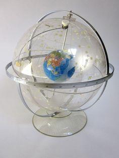 Hubble Celestial and World Globe Transparent Planetarium