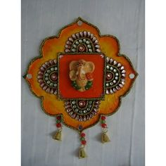 Small Ganpati Wall Hanging - Online Shopping for Art Wall n Paintings by Zest Decor