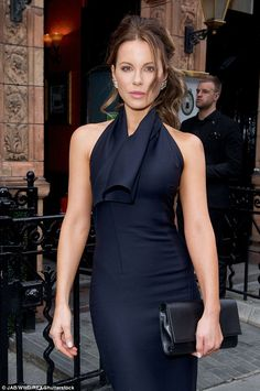 Kate Beckinsale looks effortlessly elegant in a navy dress at Lady Dior party   Daily Mail Online