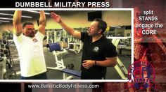 How to: dumbbell military press for shoulders - BBF 90 Day Fitness Challenge Instruction Video.  Ballistic Body Fitness / Personal Trainer Burbank