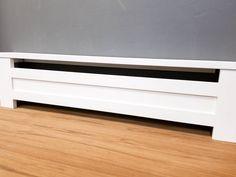 Shaker Style - Custom Baseboard Heater Covers - Custom Sizes Available - DIY INSTALL - Retrofit or New - Replacement Radiator Covers Baseboard Radiator, Baseboard Heater Covers, Electric Baseboard Heaters, Baseboard Heating, Baseboards, Radiator Heater, Cast Iron Radiators, Radiator Cover, Mezzanine