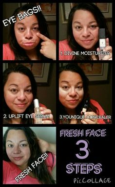 3 steps to get rid of thise eye bags!!