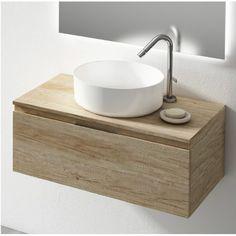 Mueble de baño Londres Olmo Basin Vanity Unit, Vanity Units, Washbasin Design, Bathroom Interior, Sweet Home, Sink, Table, Closets, Furniture