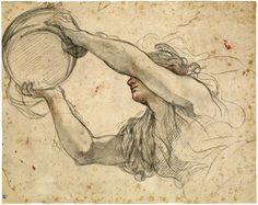 Pietro da Cortona (Pietro Berrettini; 1596–1669), Woman Holding the Papal Tiara, 1632–39. NY, The Morgan Library