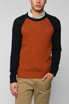 O'Hanlon Mills Nep Colorblock Sweater ($54)