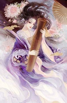 Art Anime Fille, Anime Art Girl, Human Painting, Chinese Drawings, Art Asiatique, Beautiful Fantasy Art, Fox Art, Korean Art, China Art
