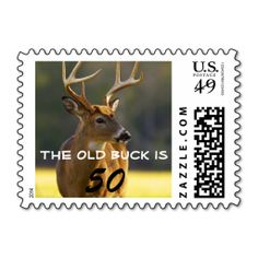 Funny Wildlife Animal Whitetail Buck Birthday Part Stamps. Wanna make each letter a special delivery? Try to customize this great stamp template and put a personal touch on the envelope. Just click the image to get started!