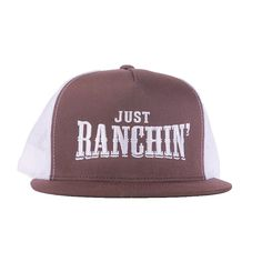 10214d23cf573 Just Ranchin in Brown   White Mesh Dale Brisby