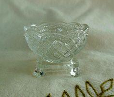 Avon Pressed Glass Salt Dish - Vintage