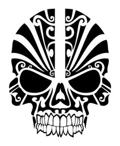 Skull tribal mask tattoo. I would love this on my shoulder