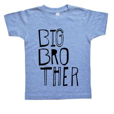 Big Brother Shirt Boys Top Sketchy Big Bro by VicariousClothing