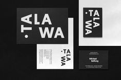 Branding, stationery and business cards for UK all black theatre company Talawa by Spy