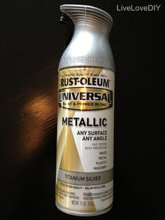 The best silver spray paint for DIY projects! Has the perfect finish!