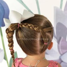 Toddler Hair Ideas Quick Braid Styles, Quick Braids, Toddler Hair Dos, Toddler Girl, Fancy Hairstyles, Teenage Hairstyles, Baby Girl Hairstyles, School Hairstyles, Little Girl Hairdos
