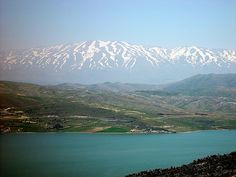 The Sea of Galilee with Mt Hermon in distance