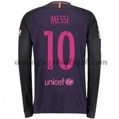 La Liga Fussball Trikots Barcelona 2016-17 Messi 10 Auswärtstrikot Langarm
