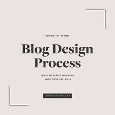 Ever wonder what goes on behind the scenes of a custom blog design process? I'm breaking down the different stages of each project and how it contributes to a successful brand.