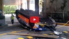 Watch How NOT to Transport a Race Car