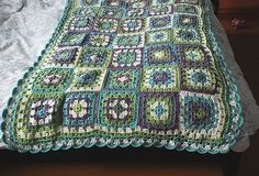 granny square blanket by scoutswife2004