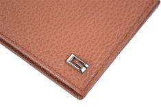 Gucci Saddle Brown Men's Dollar Calf Leather Hooper Bifold Wallet 150404