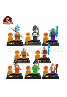 8 unids/lote Dragon Ball Z Minifiguras bloques Son Goku maestro Roshi Vegeta Krillin Lego Compatible - Visit now for 3D Dragon Ball Z compression shirts now on sale! #dragonball #dbz #dragonballsuper